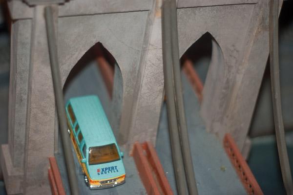 Birds-eye View of the Brooklyn Bridge, Lionel Christmas Display