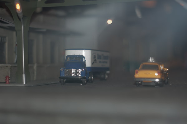 Vehicles in simulated fog