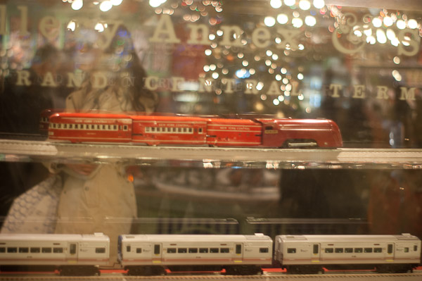 How much are those Lionel Trains in the Window?