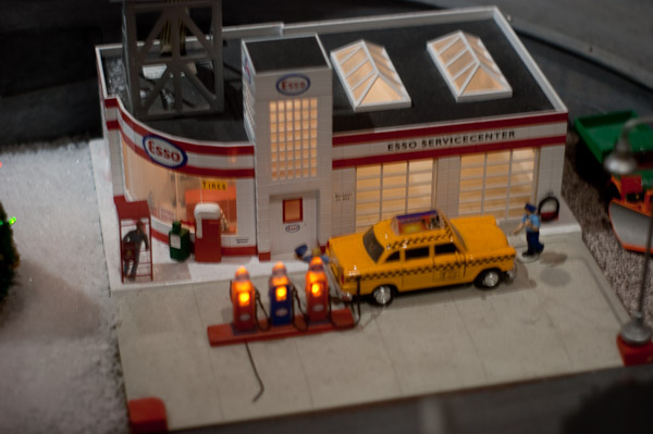 A taxi cab at Lionel Esso Station