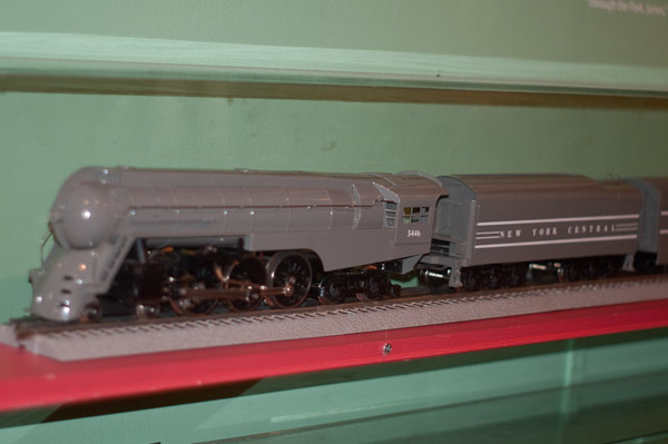 Gray streamlined NY Central Locomotive
