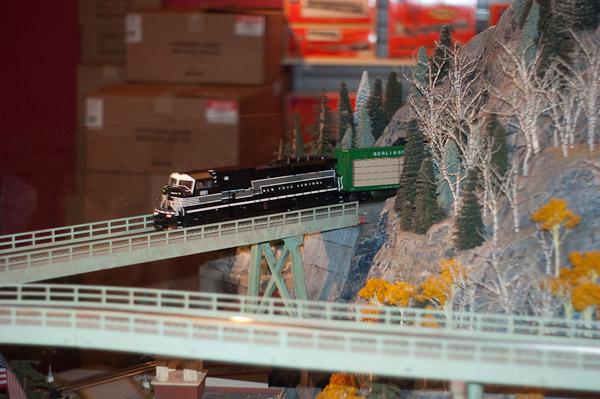 NY Central Locomotive crossing the Trestles