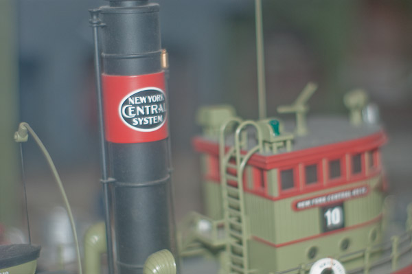 Stack and Pilot House of model tug boat